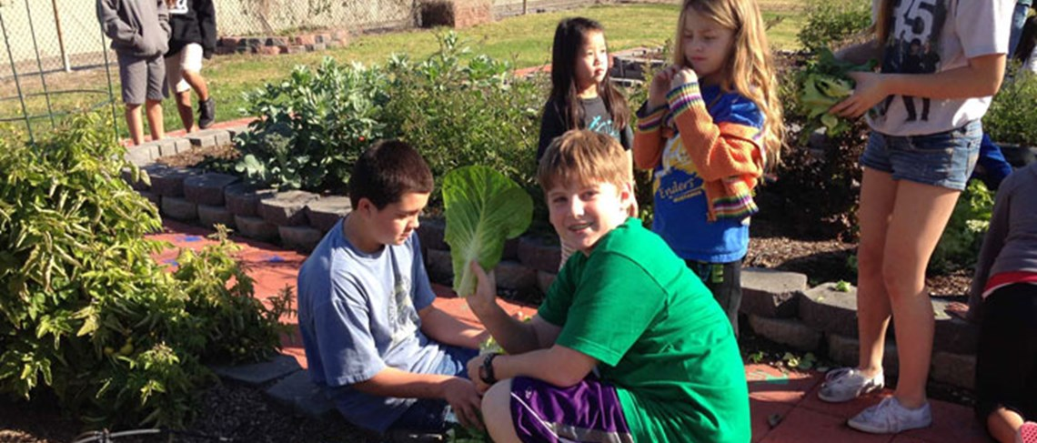 The student garden provides the magical opportunity to educate participants about the environment.